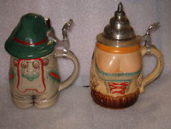 2 German Beer Steins Him And Her, Gerz And King