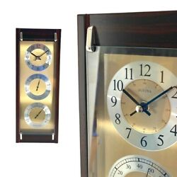 BULOVA WALL CLOCK THERMOMETER HYGROMETER AND CLOCK MODEL: C3733