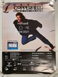 Rare 2001 Magician David Copperfield In Singapore Poster Magic For The 90's Show