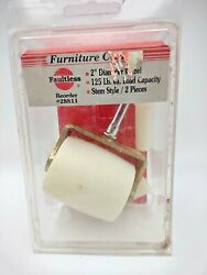 """46. Vintage Faultless Furniture Casters 2"""" Wheels New Old Stock 1 In Pack"""