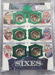 2017 The Cup Game Used Buttons Price-rask-crawford-lundqvist-howard-andersen1/1