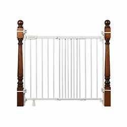 """Summer Metal Banister And Stair Safety Baby Gate Finish – 32.5"""" Tall, White"""