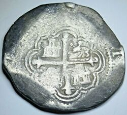 1598-1618 Spanish Mexico Silver 8 Reales 1600s Colonial Dollar Pirate Cob Coin