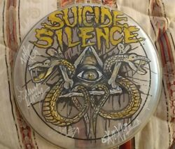 Suicide Silence Rare Hand Drawn Signed 13in Drumheadkorndeftonesslayerdanzig