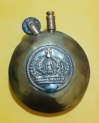 Ww1 Era Brass French Tiny Lighter With Royal Crown Poilus Military