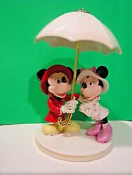 Lenox Mickey And Minnie Singing In The Rain Disney Sculpture New Inbox Coa Mouse