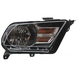 Headlight For 2010-2014 Ford Mustang Right Chrome Housing With Bulb Capa