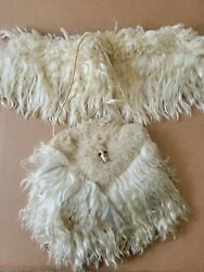 Victorian Edwardian Antique Childs Fur Muff Coin Purse With Animal Head Rare