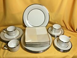 Lenox China Ivory Frost Pattern Service For 4 Total 24 Pcs.