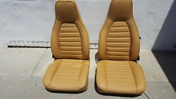 Porsche 911 Rebuilt Reupholstered German Vinyl Seats Vintage 75-83 Beautiful