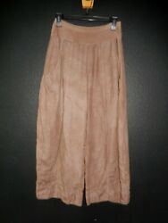 Art To Wear..the Fabulous Washed Milk Chocolate Linen Pants By Banana Blue S