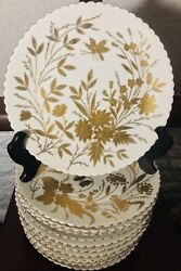 Antique German China Hand Painted In Gold