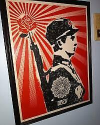 Shepard Fairey Rose Soldier Signed Screenprint 2006 Obey Early Rare Peice 18x24
