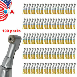 Nsk Style Dental Low Speed Contra Angle Handpiece Latch E-type Ybb-gold Lot Pb