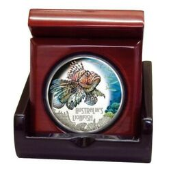 Tuvalu Australiaand039s Deadly And Dangerous Lionfish 1oz Silver Proof Coloured Coin