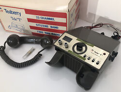 """🔥 Rare 1976 Teaberry Tele """"t"""" Cb Radio 23 Channel Citizens Band Two Way Radio"""