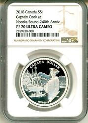 2018 Canada S1 Captain Cook At Nootka Sound 240th Ann Ngc Pf70 Uc Box And Coa Ogp