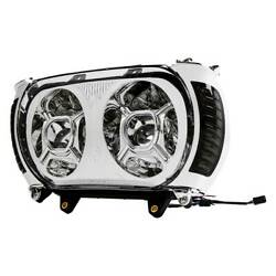 Led Dual Headlight W/ Turn Signal Light Fit For Harley Road Glide 15-19 Chrome