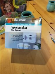 Black And Decker Spacemaker Can Opener Ec60g Bag Bottle Open White Unused Open Box