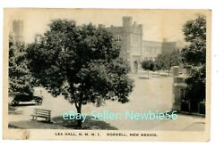 Roswell Nm - Lea Hall At New Mexico Military Institute-n.m.m.i- Postcard Nmmi