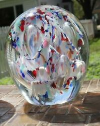 Huge Art Murano Glass Paperweights From Frankenmuth 5 Tall