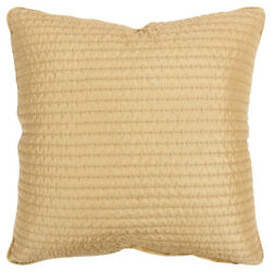 Rizzy Gold Transitional Stitchery Textured Welted Throw Pillow Solid T16233