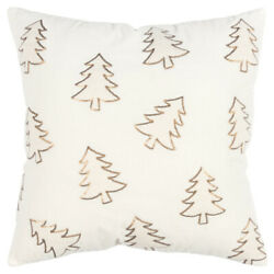 Rizzy Gold Contemporary Trees Asymmetrical Throw Pillow Nature Print T17320
