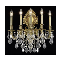 Asfour Crystal French Gold Foyer Dining Room Bedroom 5 Light 24 Wall Sconce