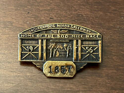 Vintage 1956 Indianapolis Indy 500 Race Driver Pin Badge Pit Press Pass