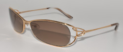 NEW AUTHENTIC FRED LUNETTES SUNGLASSES VOLUTE N4 206 GOLD CHAMPAGNE BROWN GRAD $59.99