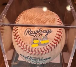 Ronald Acuna 2021 Game Used Hit Double Ball - Mvp Year