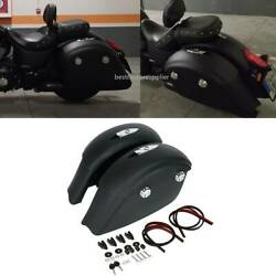 Fit For Indian Chieftain 14-17 Matte Black Hard Saddlebags With Electronic Latch