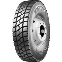 4 New Kumho Kmd41 11r22.5 Load H 16 Ply Drive Commercial Tires