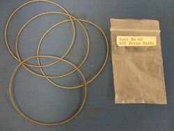 Mamod Ws1 Workshop Drive Belt Set Of 4 Spare Parts For Model Toy Steam Engine