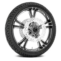 For Harley-davidson Road King 08-18 Fierce Front Wheel Kit W Tires And Rotors