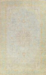 Vintage Ardakan Floral Area Rug Overdyed Handmade Evenly Low Pile 9'x13' Carpet