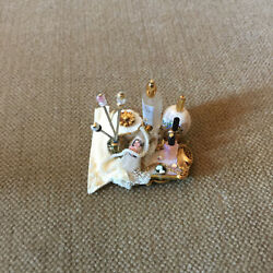 Vintage Dollhouse Miniatures 1/12 Scale Vanity Table Tray Perfume Jewelry Hatpin