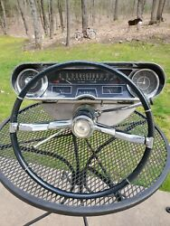 1965 Cadillac Stearing Wheel And Dashboard Cluster Lighted /home Decor