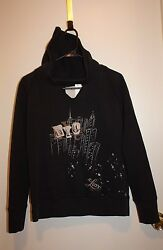 NYC Pull Over Women#x27;s Hoodie Black Color Size Medium $19.95