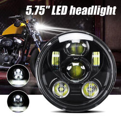 5.75 Inch Led Headlight High Low Sealed Beam Fit Dyna Sportster Xl1200 Xl883