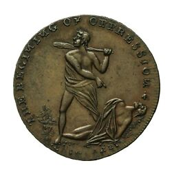 Middlesex Spenceand039s Halfpenny Token Pitt And Fox / Cain Killing Abel Dandh 801