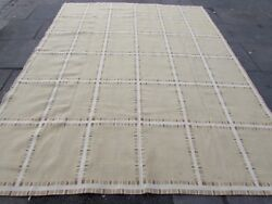 Old Hand Made French Design 10 X 8 Wool Beige Large Original Aubusson 315x240cm