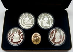 2002 Voyages Into History Set Of 4 Proof 5 999 Silver Coins In Capsules W/coa