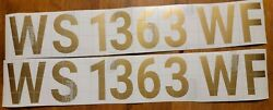 Custom Boat Registration Numbers Letters Decal 3 X 19 Sold As Set Leftandright