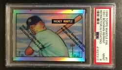 Rookie Refractor Reprint Centered 1996 Topps Finest 1951 Mickey Mantle Psa 9