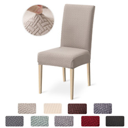 1/2/4/6 Pcs Chair Cover Jacquard Spandex Slipcover Protector Case Stretch Chair