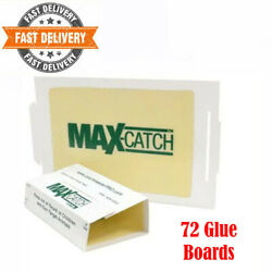 Mice Glue Traps Pest Sticky Boards 72 Pcs Trap Catch Spiders Snakes Insects Rats