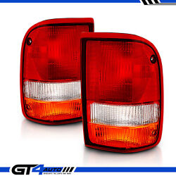 For 1993-1997 Ford Ranger Replacement Taillights Rear Brake Lamps Set Left+right