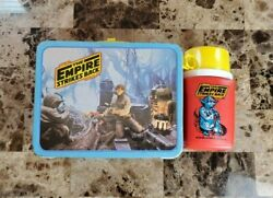 Empire Strikes Back Metal Lunch Box Star Wars 1980 Vintage W Thermos Very Nice