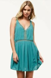 New W Tag Oand039neill Mariah Green Embroidered Lace Dress Cover Up S
